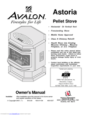 Avalon Astoria Avalon Pellet Stove Astoria PS Manuals