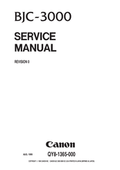 Canon BJC-3000 Series Manuals