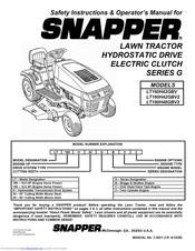 Snapper LT160H42GBV, LT160H42GBV2, LT180H48GBV2 Manuals