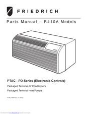 Friedrich PTAC Series Manuals