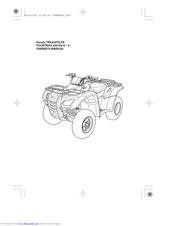 Honda TRX420FE Manuals