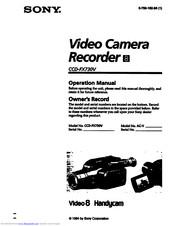 Sony Handycam CCD-FX730V Manuals