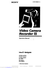 Sony Handycam CCD-SC5 Manuals