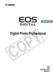 Canon EOS Digital Photo Professional Manuals