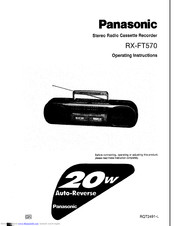 Panasonic RX-FT570 Manuals