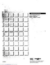 Panasonic NV-SD1 Series Manuals