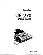 Panasonic Panafax UF-270 Manuals