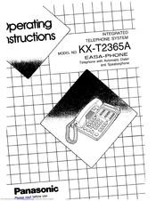 Panasonic EASA-PHONE KX-T2365A Manuals