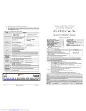 Autostart AS-2350vTW-FM Manuals