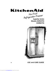 Kitchenaid Superba KSRS27Q Manuals