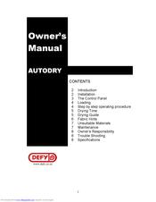 Defy Autodry Manuals