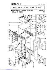 Hitachi P 12RA Manuals