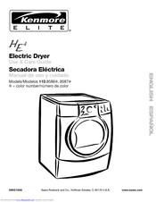 Kenmore Elite HE4 110.8587 Series Manuals