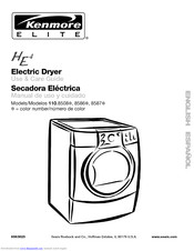 Kenmore Elite HE4 110.8586 Series Manuals