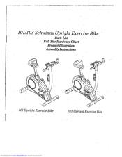 Schwinn 103 Upright Bike Manuals