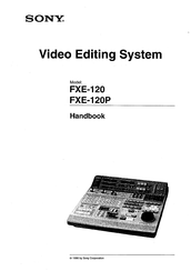 Sony FXE-120; FXE-120-P Manuals