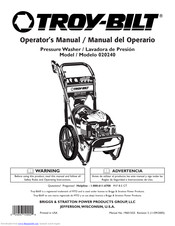 Troy-bilt 20240 Manuals