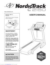 Nordictrack C2150 Treadmill Manuals