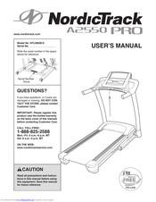 Nordictrack A2550 PRO NTL08009.0 Manuals