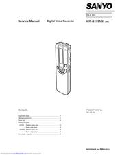 Sanyo ICR-B170NX Manuals