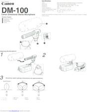 Canon DM-100 Manuals