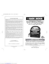 Black & Decker Smart Battery Charger Manuals