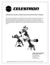 Celestron NexStar 4GT Manuals