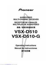 Pioneer VSX-D510-G Manuals