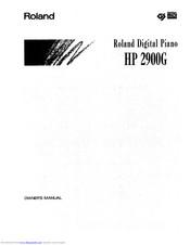 Roland HP 2900G Manuals