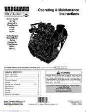 Briggs & Stratton Vanguard Diesel 582447 Manuals