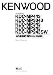 Kenwood KDC-MP343 Manuals