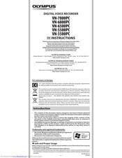 Olympus VN-5500PC Manuals