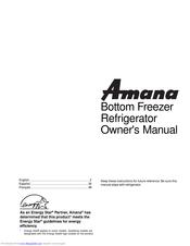 Amana Bottom Freezer Refrigerator Manuals