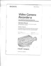 Sony Handycam CCD-TR94 Manuals