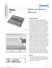 Samson TXM20 Manuals