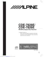 Alpine CDE-7828E Manuals