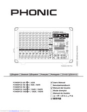 Phonic POWERPOD 1062 DELUXE Manuals