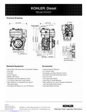 Kohler KD420 Manuals