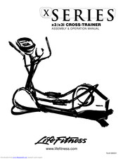 Life Fitness X3 Cross-Trainers Manuals