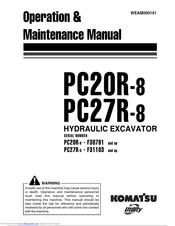 Komatsu PC27R-8 Manuals
