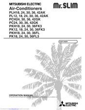 Mitsubishi Electric Mr.Slim PK36FK3 Manuals
