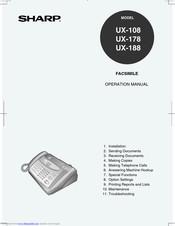 Sharp UX-108 Manuals