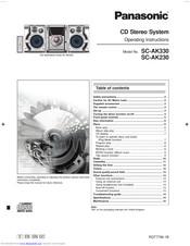 Panasonic SA-AK230 Manuals