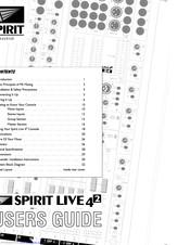 Soundcraft SPIRIT LIVE 42 Manuals