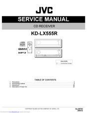 Jvc KD-LX555R Manuals