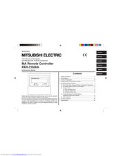 Mitsubishi Electric PAR-21MAA Manuals