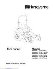 Husqvarna iZ5223TKAA Manuals