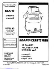 Craftsman 113.178490 Manuals