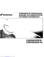 Honda CBR600F4i Manuals