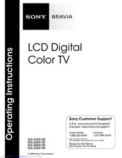 Sony KDL-4055100 Manuals